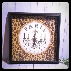 Framed Paris style 17.5x17.5 chocolate frame